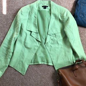 Pistachio green linen jacket